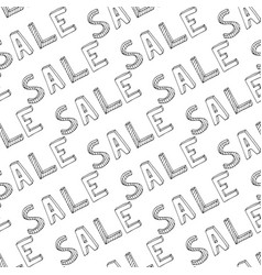 hand drawn sale seamless pattern doodle discount vector image