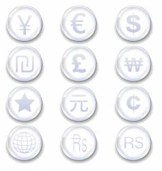 international currency icons vector image vector image