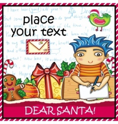 Letter to santa vector