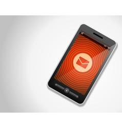 Mobile phone and incoming mail icon vector image vector image