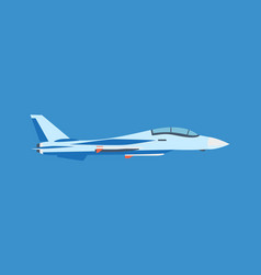modern milliary air plane flying on blue sky vector image