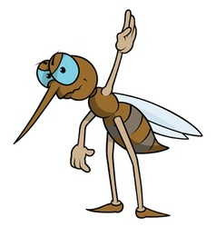 Mosquito with raised hand vector