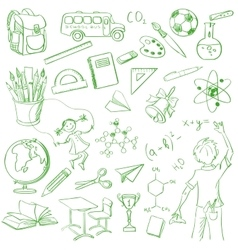 School board free hand drawing vector image