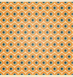 seamless geometric pattern in retro orange colors vector image vector image