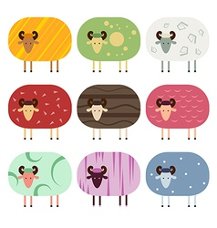 Sheep collection vector image vector image