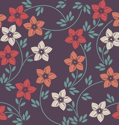 Stylish seamless pattern with decorative flowers vector image