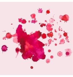 Watercolour blots splash vector