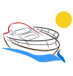 Yacht sketch vector