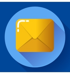 Small parcel package letter or mail flat icon vector image