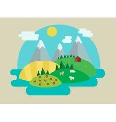 Minimalistic nature landscape vector