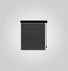 Blinds icon interiors vector
