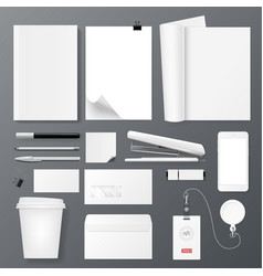 office corporate identity template set design for vector image