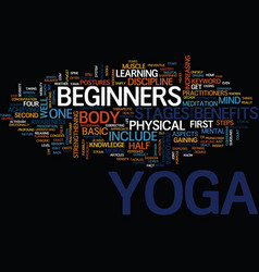 Yoga for beginners yoga techniques on the loose vector