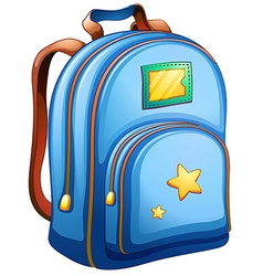 A blue school bag vector
