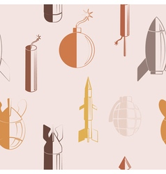 Seamless abstract background with bombs vector