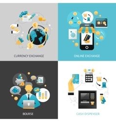 Currency exchange design concept vector