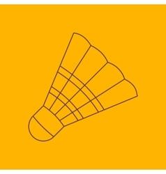 Badminton shuttlecock line icon vector image