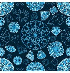 diamonds seamless grunge 03 vector image