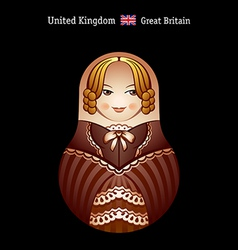 Matryoshka britain vector