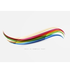Color stripes with shiny light effects wave line vector