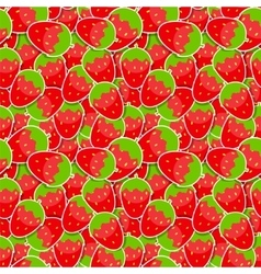 Seamless pattern background from strawberry vector