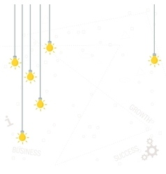 Background with flat yellow lamps vector