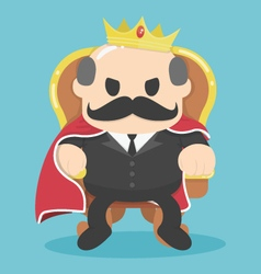A successful businessman king sitting vector
