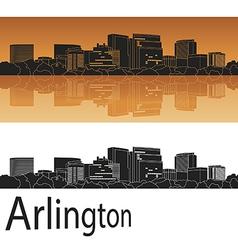 Arlington skyline in orange vector