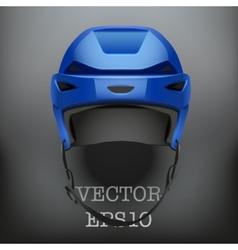 Background of Classic blue Ice Hockey Helmet vector image vector image