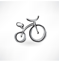 bicycle grunge icon vector image vector image