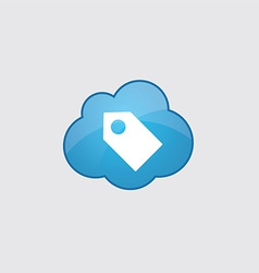 Blue cloud tag icon vector