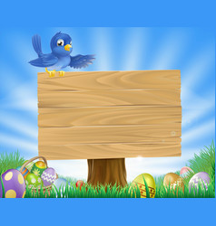 Bluebird easter cartoon background vector