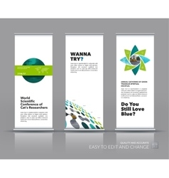 Business set of modern roll Up Banner stand vector image vector image