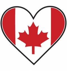 canada heart flag vector image vector image