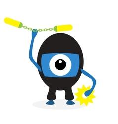 Cartoon ninja cyclops vector