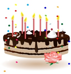 celebratory cake vector image vector image