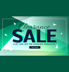 Clearance sale banner with beautiful background vector