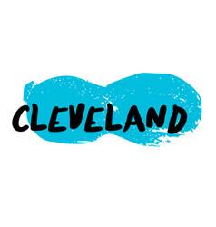 Cleveland sticker stamp vector