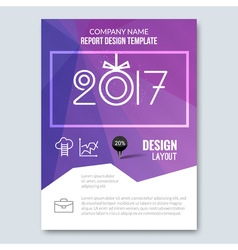 Cover annual report 2017 business colorful vector