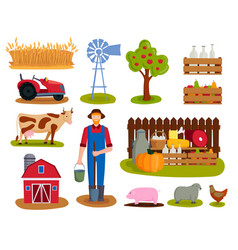 farm nature food harvesting vector image