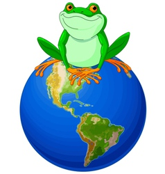 Frog earth day vector
