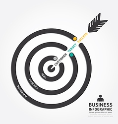 infographics business arrow design customer target vector image vector image