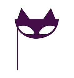 Masquerade Cat Mask vector image
