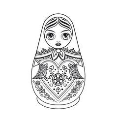 matryoshka babushka doll vector image