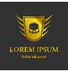 Moto skull logo symbol vector
