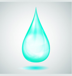 One big turquoise drop vector