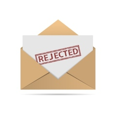 Rejected letter vector image vector image