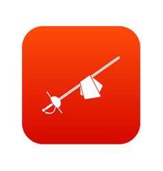 Saber icon digital red vector