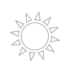 Sun sign black dotted icon vector