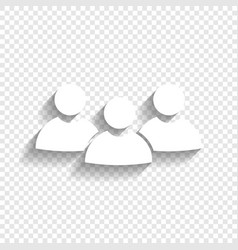 Team work sign white icon with soft vector